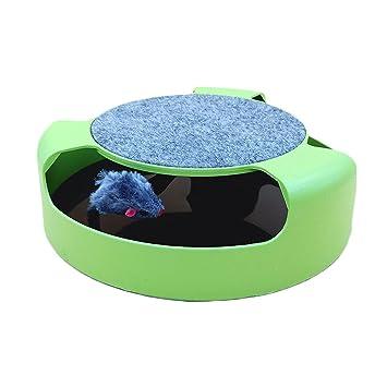 Placa giratoria para gatos, suministros divertidos para gatos, pequeño mouse, gato azul británico corto, gatos y gatos, artefactos para gatos, juguetes para ...