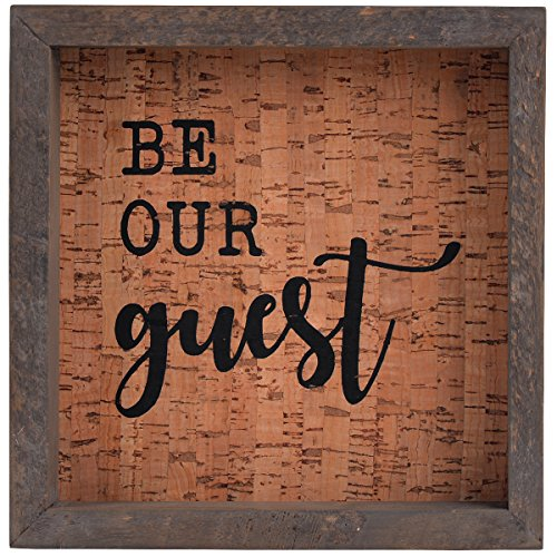 NIKKY HOME Be Our Guest Farmhouse Wooden Framed Decorative Wall Art Sign 7.87 x 1.57 x 7.87 Inches, - Guest Sign