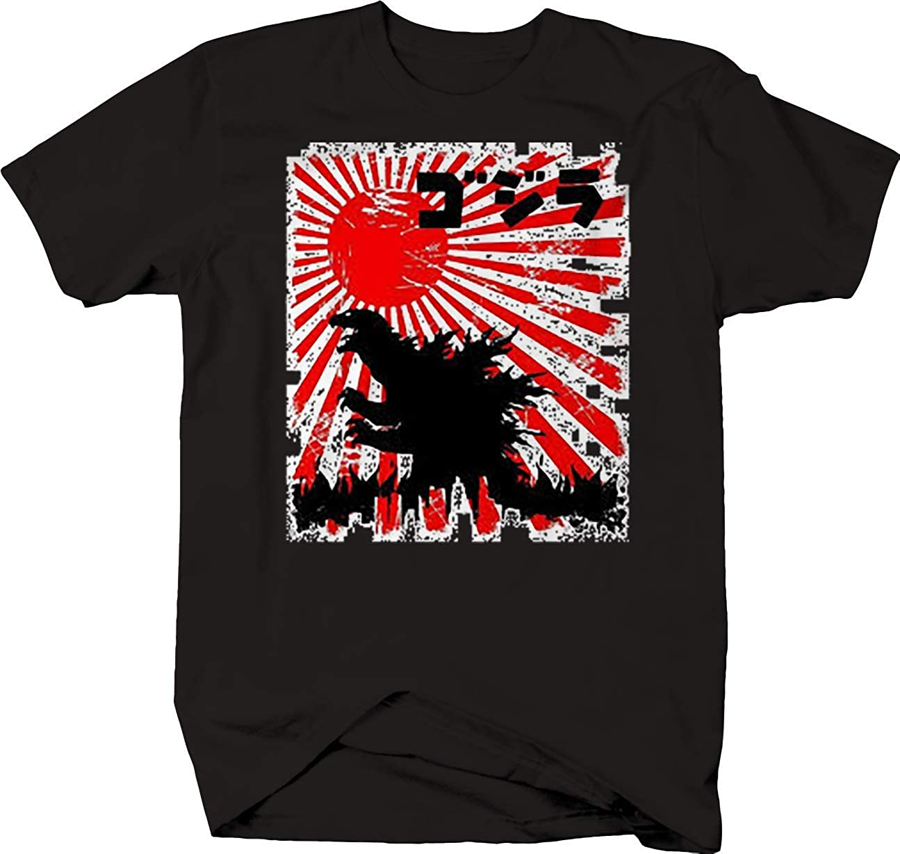 Japan Tokyo Godzilla Monster JDM Sun T Shirt for Men