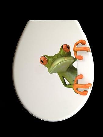 ADOB Duroplast WC Sitz Klobrille Modell Frosch mit Absenkautomatik ...