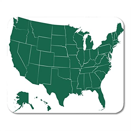 Amazon.com : Emvency Mouse Pads America Midwest USA States ... on borders of mexico, borders of asia, borders of canada, borders of arizona,