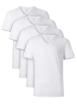 20ff4ba579fb5 David Archy Men's Short Sleeve V-Neck Premium Cotton Undershirts T-Shirts  in 4