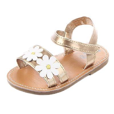 8c15fd422203 Annnowl Baby Girls Sandals Flowers Summer Shoes