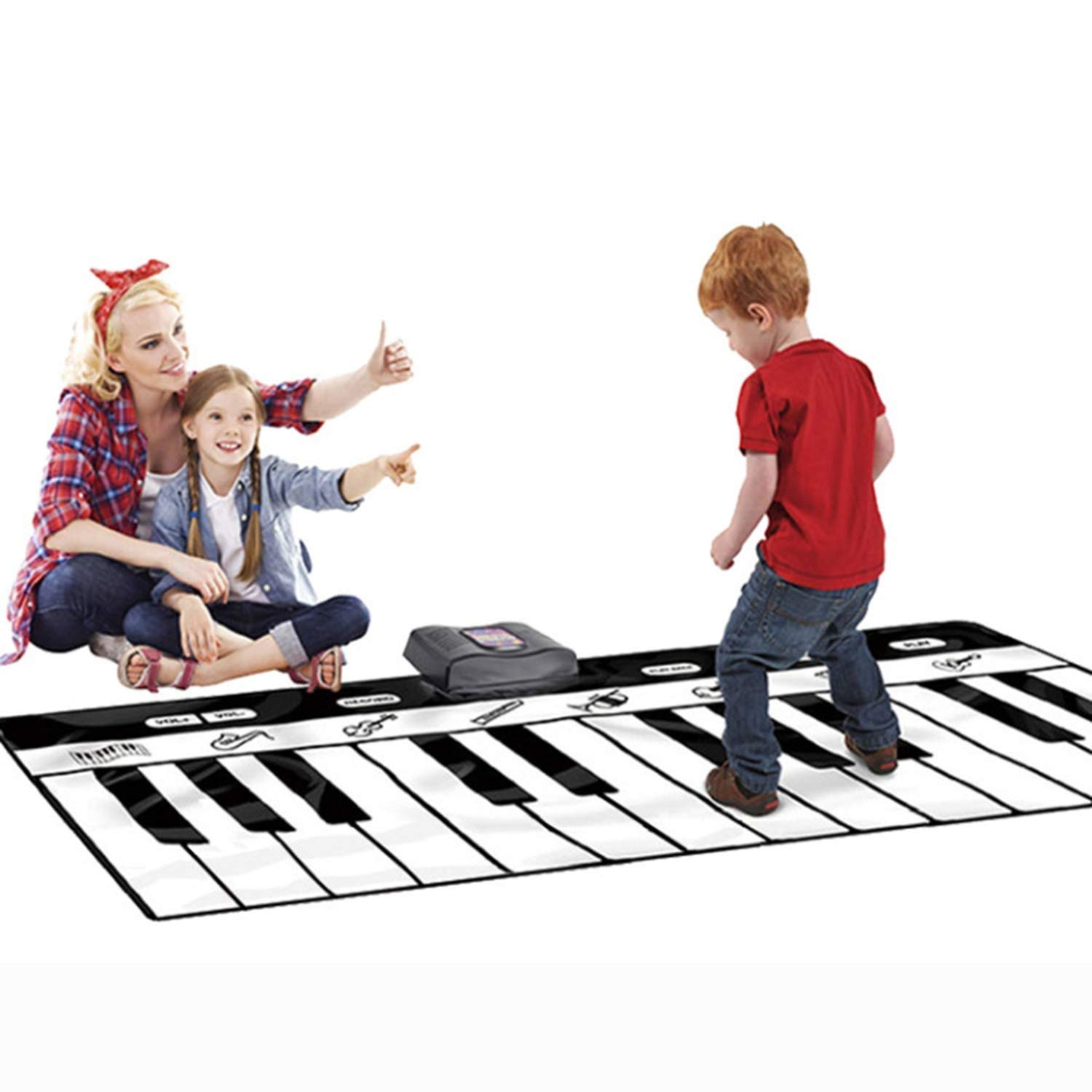 YFQ Children's Early Education Music Mat Crawling Mat Large Pedal Electronic Piano Crawling Blanket Game Pad Early Education Toy Educational Toys by YFQ (Image #2)