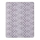 Alexi Indoor/Outdoor Throw Blanket in Purple/Grey