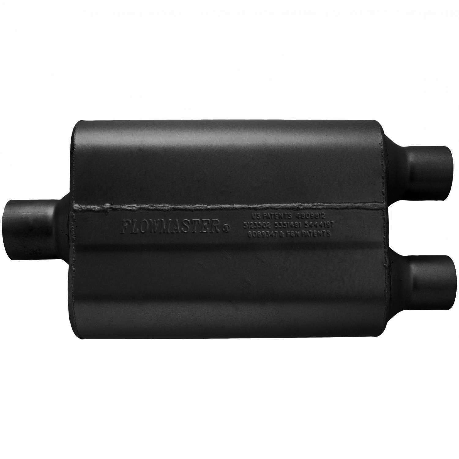 Aggressive Sound Flowmaster 9425422 40 Delta Flow Muffler 2.50 Center IN 2.25 Dual OUT