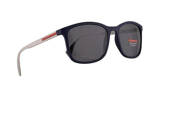 Amazon.com: Prada PS01TS - Gafas de sol (caucho azul, lentes ...