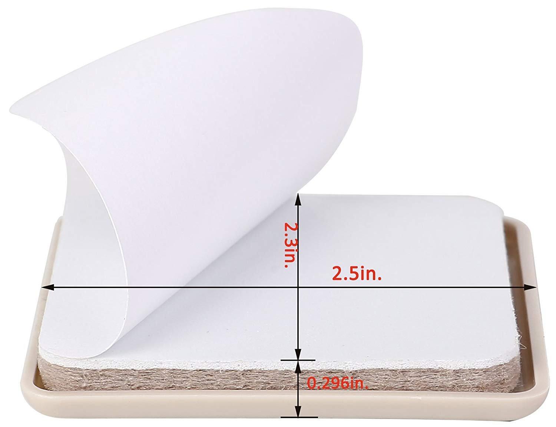 Ezprotekt 6,3/cm carr/é curseurs de meubles glisse Lot de 16//étiquette Pieds de meubles Sol protecteurs Tapis Moving Coussinets Movers