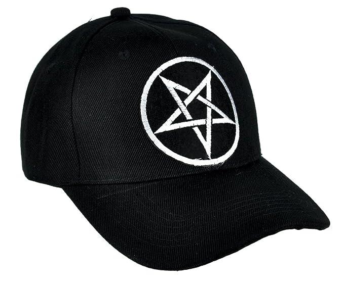 Amazon.com  Grey Inverted Pentagram Hat Baseball Cap Occult Clothing ... 16394de35f1
