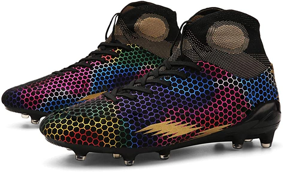 WELRUNG Unisexs AG Cleats Professional Long Studs Wear Resistant Football Training Athletic Soccer Shoes for Youth