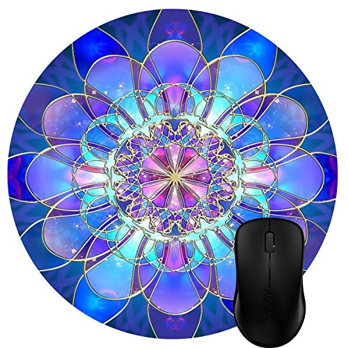Leshiry Super Cute Functional 7.9in X7.9in Non Slip Rubber Mouse Pad Gaming Mouse Pad Round Flower 15