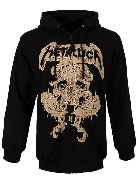 Metallica Fillmore Pushead Sudadera capucha con cremallera Negro S: Amazon.es: Ropa y accesorios