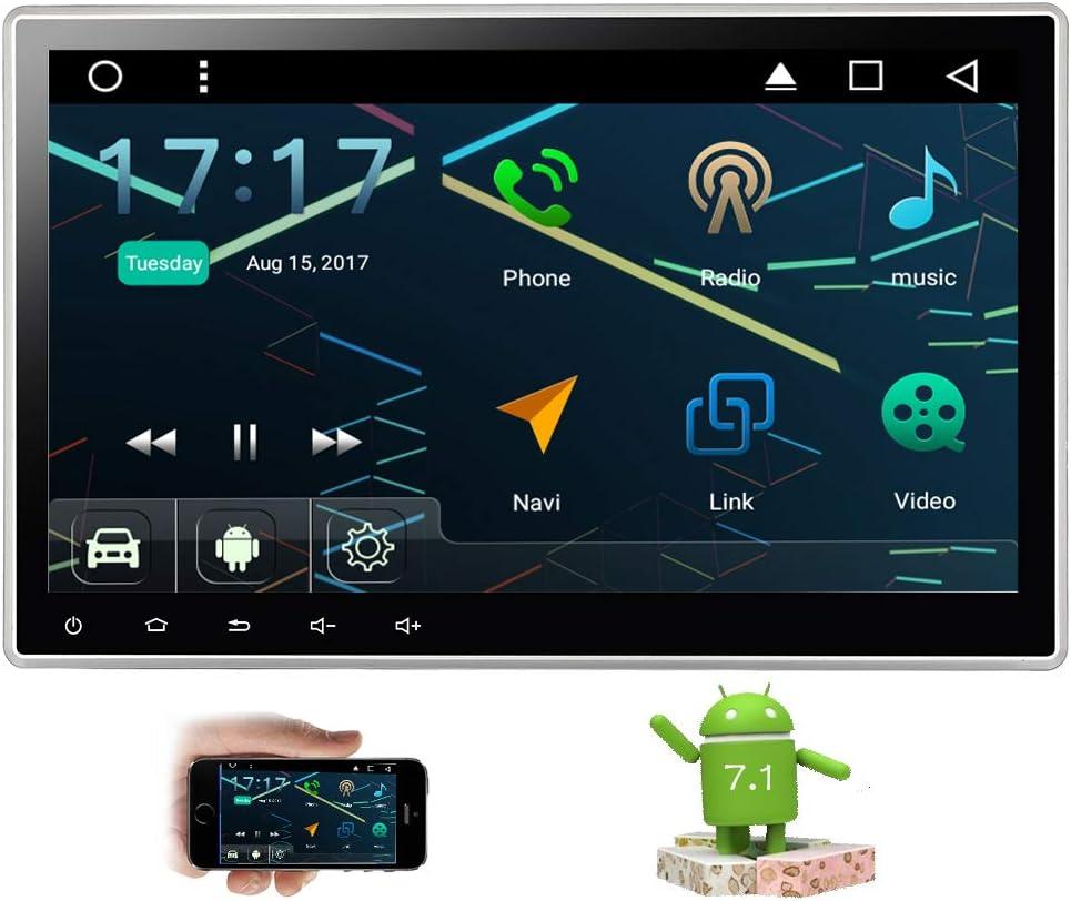 Android 7.1 estéreo Octa Core 2 GB de RAM Coche 10.1 Pulgadas de Pantalla táctil 2 DIN GPS Autoradio Soporte Sistema de Entretenimiento WiFi Bluetooth Radio Am / FM con OBD2 de