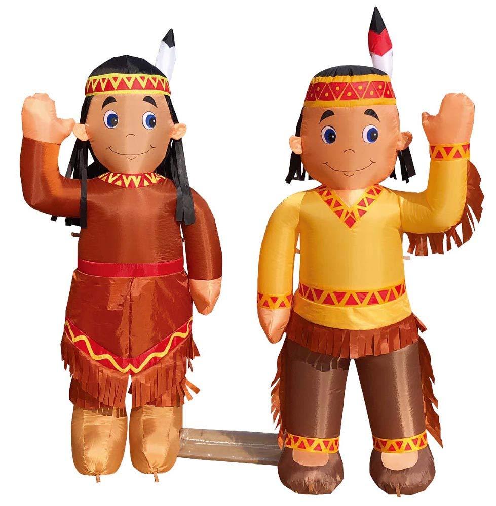 Amazon.com: Aire Blown inflable 4 nativo americano niño y ...