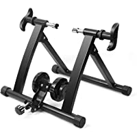 Flexzion Bike Trainer, Indoor Stationary Exercise Training Riding Adjustable Magnetic Resistance Tire Stand