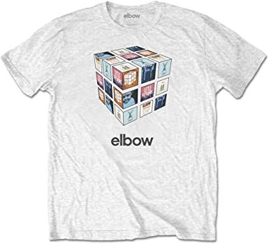 Rock Off Elbow White Best of Greatest Hits Oficial Camiseta para Hombre: Amazon.es: Ropa y accesorios
