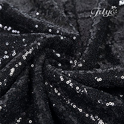 low-cost TRLYC 6Ft by 8Ft Black Wedding Sequin Photography
