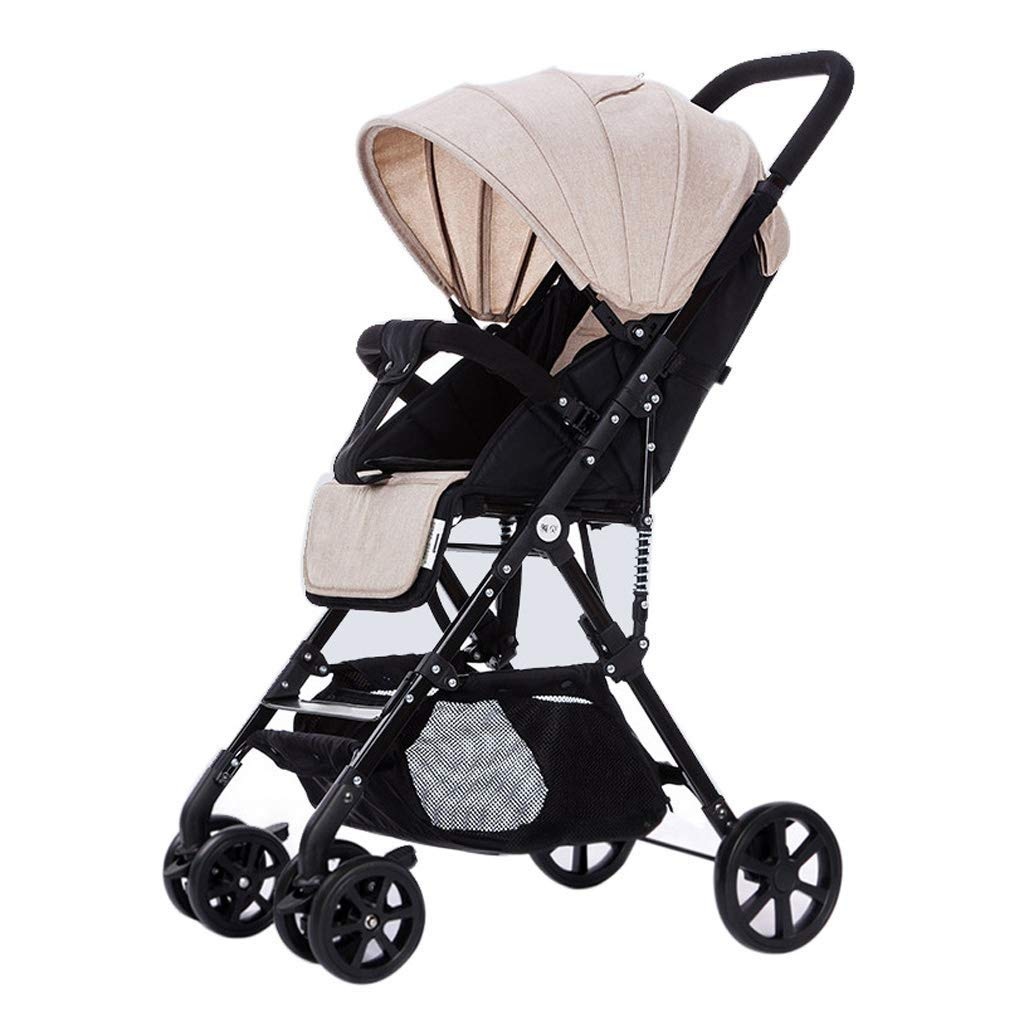 Zsail Baby Carriage High View Stroller Two-Way Push Folding Pushchair Travel System for Children from Birth to 36 Months with Lying Position (Color : A)