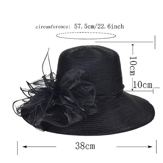 Women Kentucky Derby Church Dress Cloche Hat