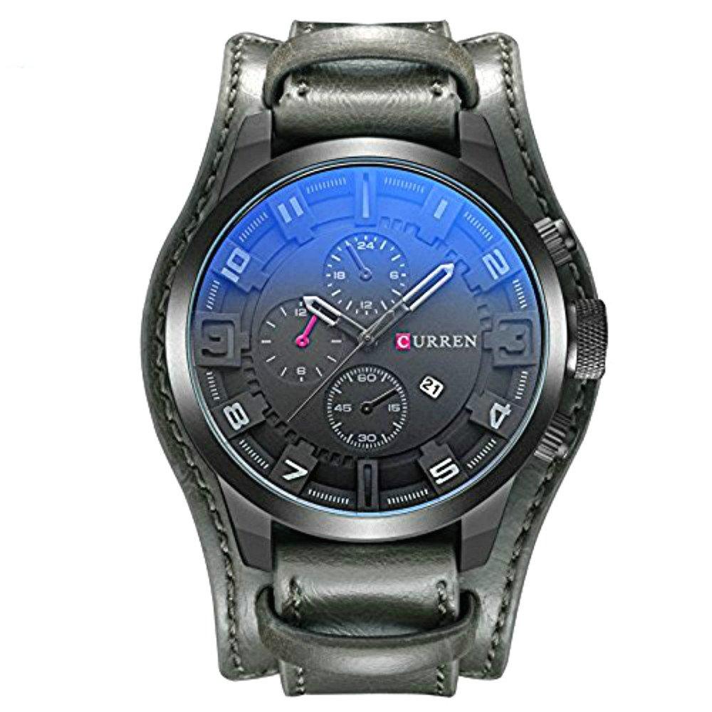 Curren Watch Men FECHA Military cuarzo Watch: Amazon.es: Relojes
