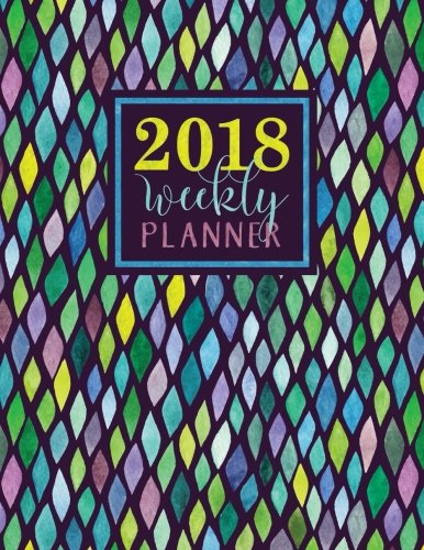 Download Weekly Planner: Large Format: Trendy Colorful Mermaid Scales pdf epub