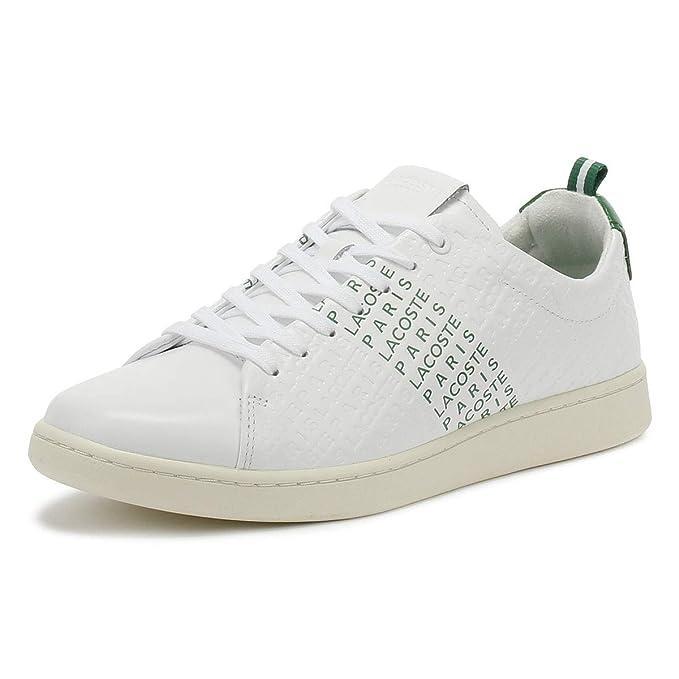 Lacoste Hombre Zapatillas de Deporte de Cuero Carnaby EVO 119 9, Blanco: Amazon.es: Zapatos y complementos