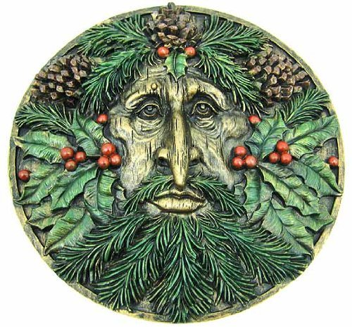 Greenman Plaque Winter Collectible Figurine