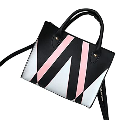 1e068ee4ff01 Amazon.com  COOKI Womens Purses and Handbags Ladies Geometry Fashion PU  Leather Simple Crossbody Handbags Designer Satchel Tote Bag Shoulder Bags  on Sale ...