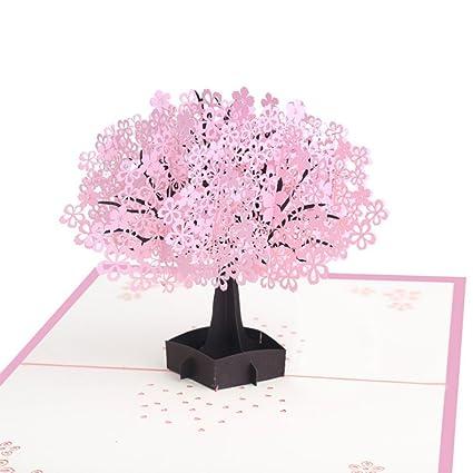 Amazon finico cute 3d cherry blossom card for greetings cards finico cute 3d cherry blossom card for greetings cards springtime card birthday card m4hsunfo