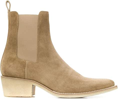 AMIRI Luxury Fashion Mens Y0F20424SUFANGO Beige Ankle Boots | Spring Summer 20