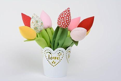 Flor decorativa artificial de tela hecha a mano para regalar original estilosa: Amazon.es: Juguetes y juegos