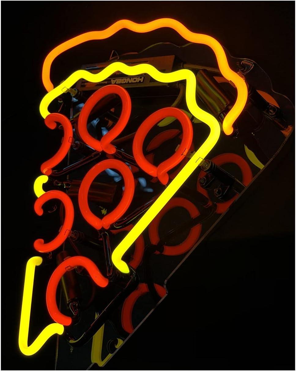 Gritcol Pizza Neon Sign Room Decor Man Cave Neon Light Wall Decor Restaurant Love Night Light Gift