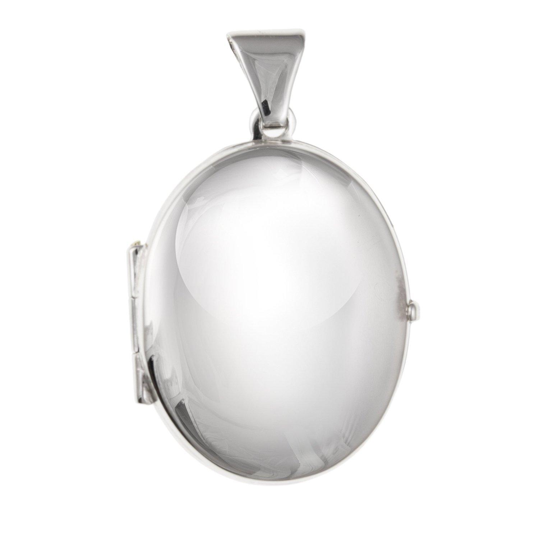 13mm de large Petite Médaillon ovale en argent 925–– Livré dans une boîte cadeau gratuit ou sac cadeau M & M Jewellery BU2356ID-LL-LOCK