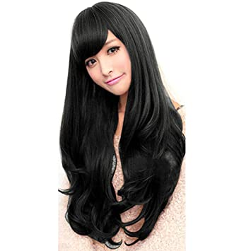 Amazon.com   Gracefulvara Women Long Curly Wavy Full Wig Cosplay Party Heat  Resistant Hair   Beauty af8fa7b9e