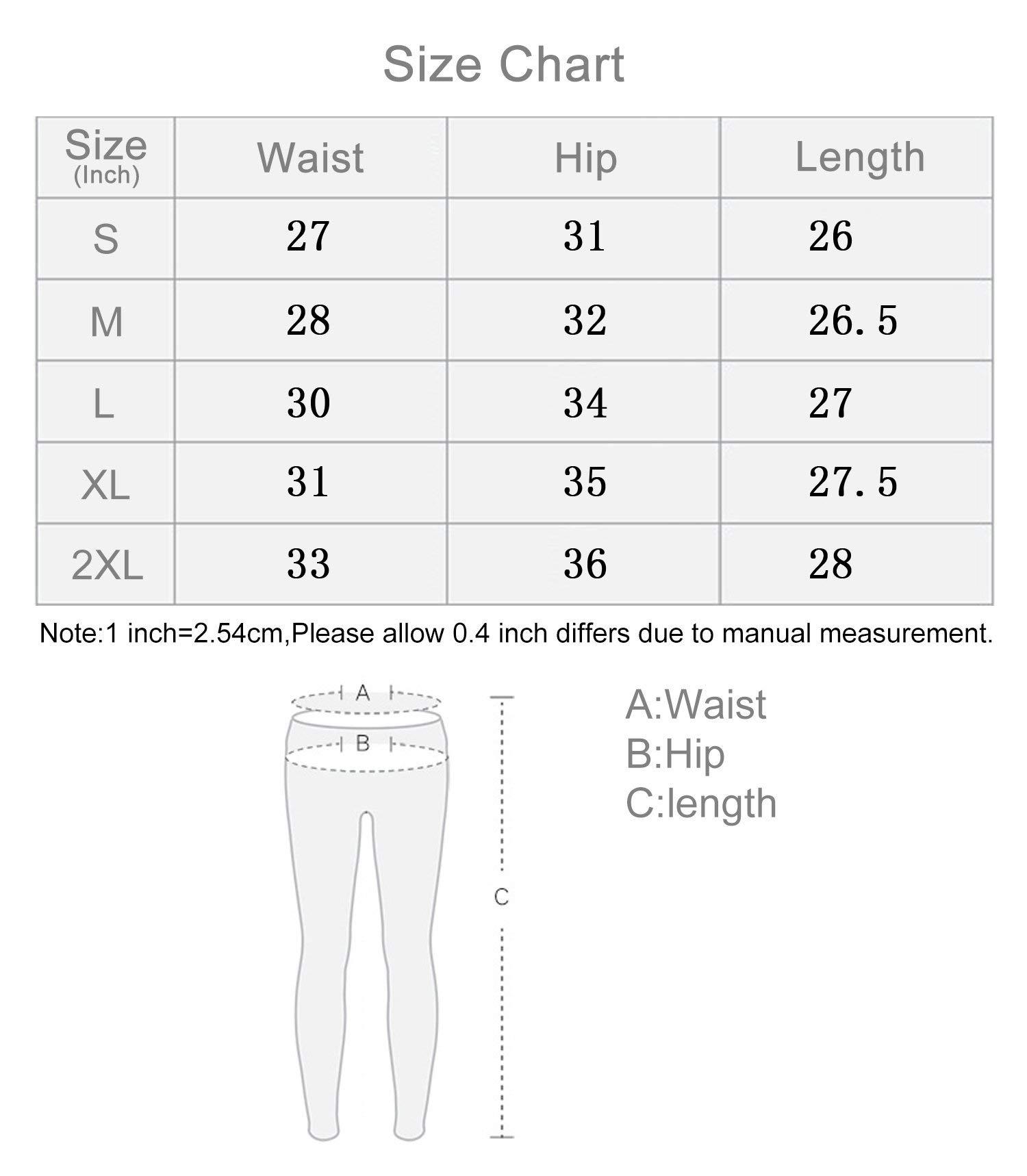 Fengbay Capris Leggings, Capris Yoga Pants Tummy Control Workout Running 4 Way Stretch High Waist Capris Workout Leggings