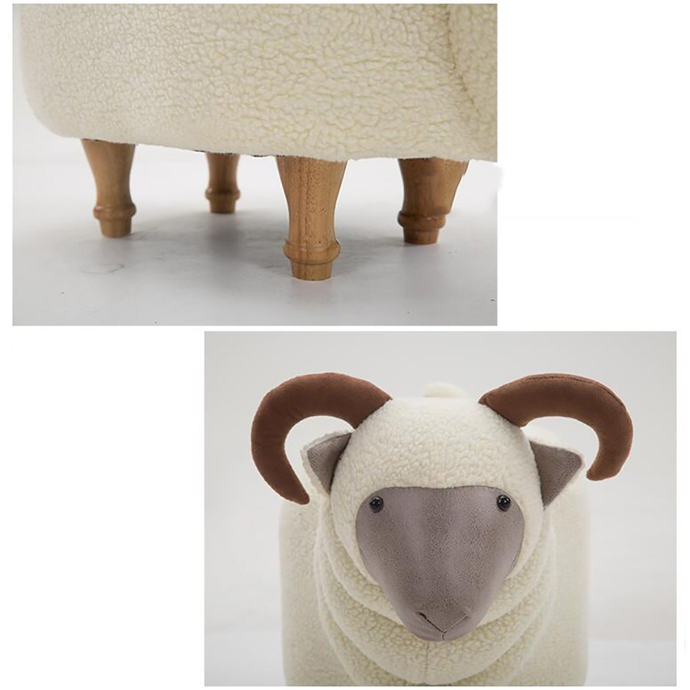 Footstool/ stool / creative, goat, changing shoes, solid wood, removable wash / designer furniture-white by Visual taste (Image #4)