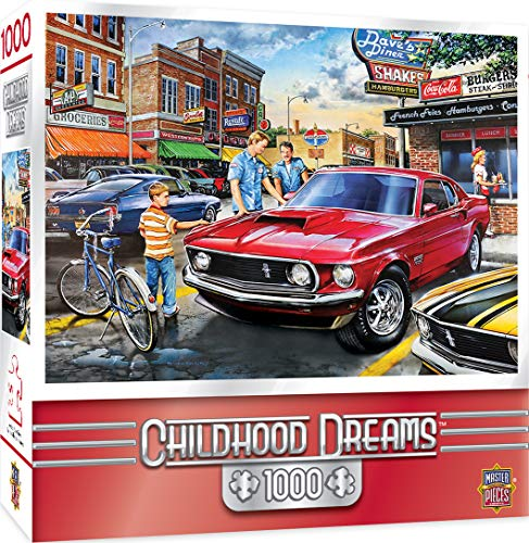 Dream Come True Jigsaw Puzzle - MasterPieces Childhood Dreams Jigsaw Puzzle, Dave's Diner, Featuring Art by Dan Hatala, 1000 Pieces