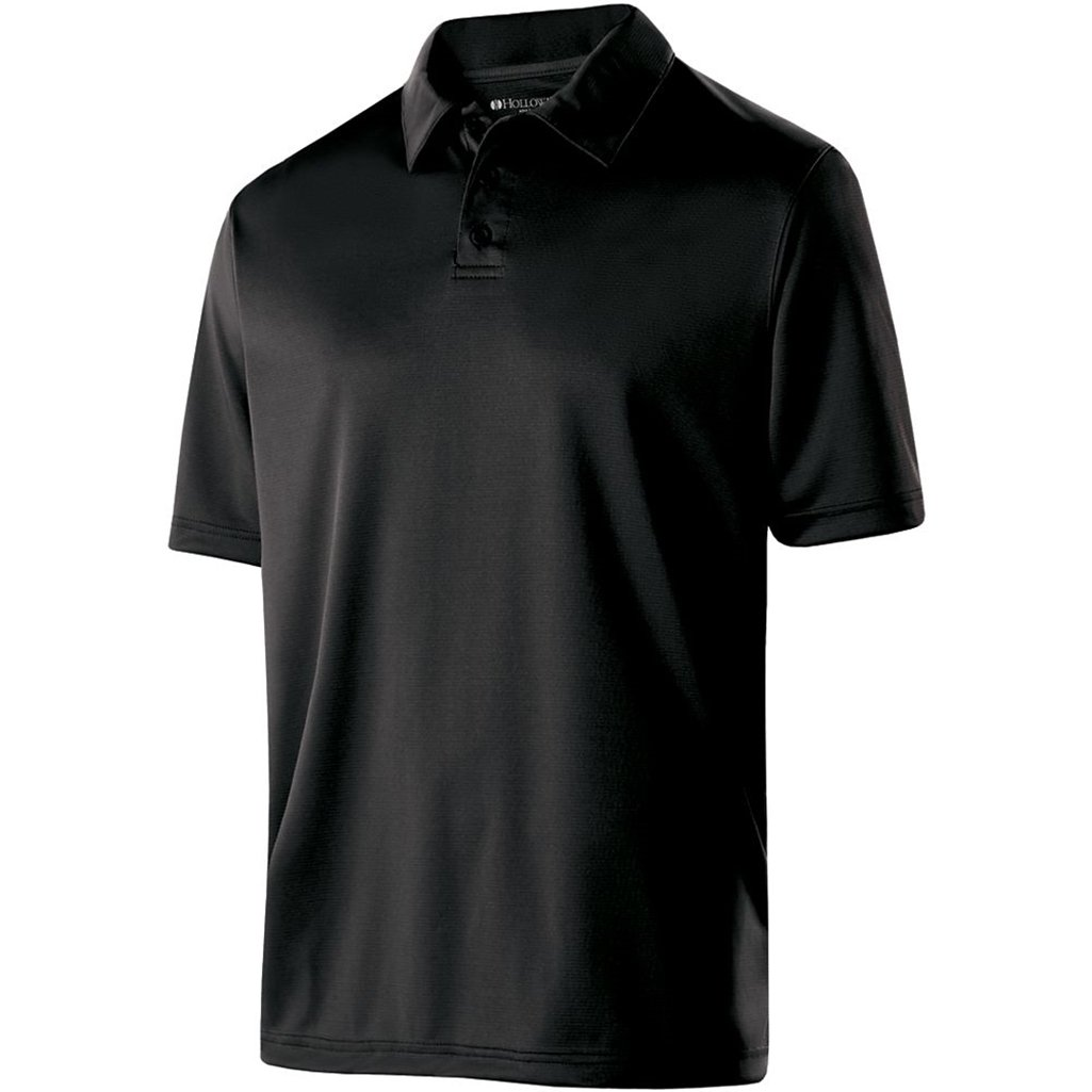 Holloway Mens Dry Excel Shift Polo (XXX-Large, Black)