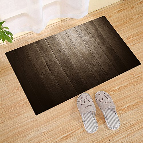 FANNEE Custom Rustic Wood Theme Wooden Stripe Large Doormat, Brown, Front Door Mat | Stylish Hand-Made Recycled Plastic Poly Timber Slats - Eco-Friendly Outdoor Entrance Patio Garage Entrance ()