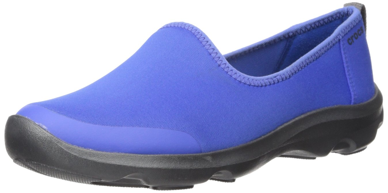 Crocs Women's Busy Day Stretch Skimmer Sneaker B01A6LE23S 8 M US|Cerulean Blue