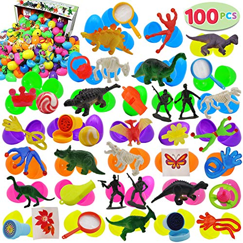 JOYIN 100 Pieces Toy Filled Hinged 2 3/8