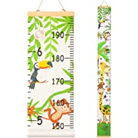 QtGirl Kids Growth Chart, Height Chart for Child Height Measurement Wall Hanging Rulers Room Decoration for Girls, Boys, Toddlers(Monkey)