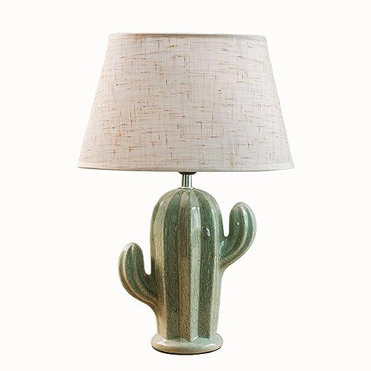 Wshfor cactus ceramic table lamp green bedside lamp living room wshfor cactus ceramic table lamp green bedside lamp living room bedroom study reading desk lamp mozeypictures Images
