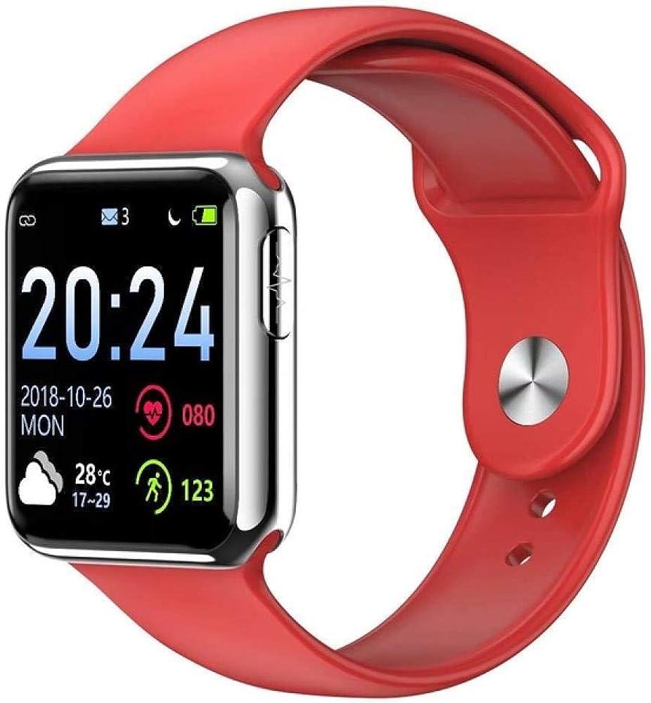 1.3 pulgadas IPS pantalla colorida de Smart Watch, monitor de ritmo cardíaco, impermeable reloj, cronómetro podómetro, fitness seguidores for mujeres de los hombres, cronómetro for Iphone Android ZZAY