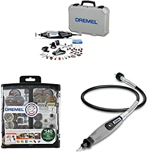 Dremel Variable Speed Rotary Tool Kit - Engraver, Polisher, and Sander and Flex Shaft Rotary Tool Attachment