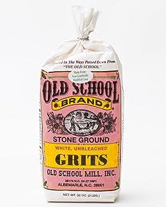 Old School Stone Ground White Corn Grits Non-GMO32 ounces