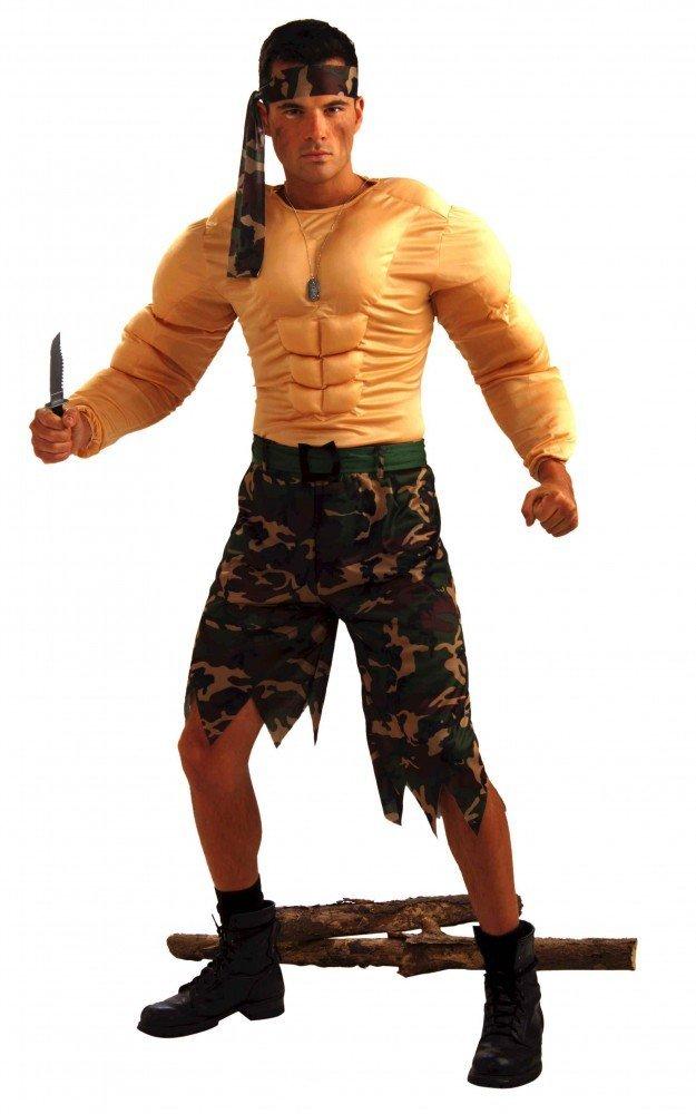 Shoperama Kostüm M Dschungel-Kämpfer mit Muskeln Gr. M Kostüm ff105f