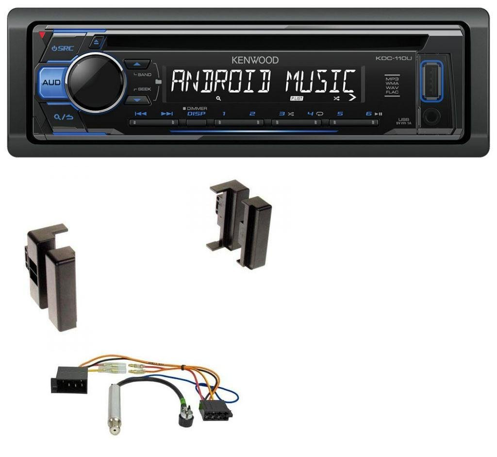 Kenwood KDC-110UB 1DIN MP3 USB CD Aux Autoradio fü r Audi A4 B5 bis 99 A6 C4 bis 97 A8 D2 bis 99 caraudio24