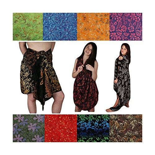 Sarongs, Assorted. Floral Patterns, Black Shades. Free (Floral Pattern Shade)