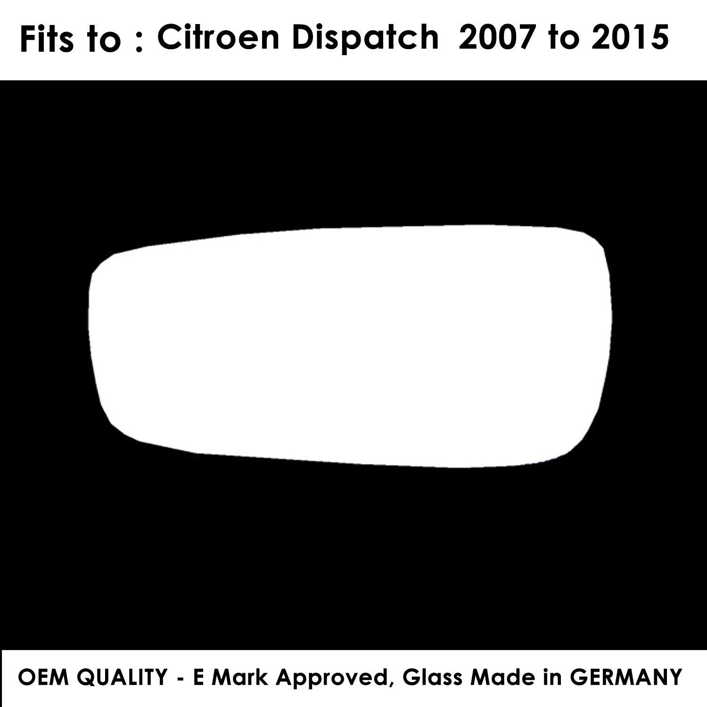 Citroen Dispatch 2007,2008,2009,2010,2011,2012,2013,2014 Blind Spot Passenger Side Silver Wing//Door Mirror Glass LH
